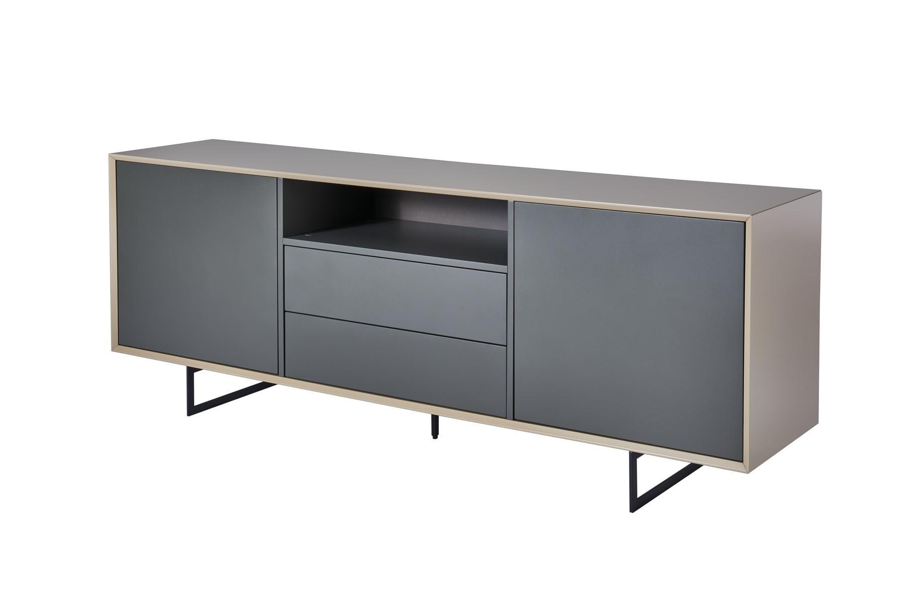 Sideboard Grau kommode sideboard titran beige grau anthrazit hochglanz sand matt