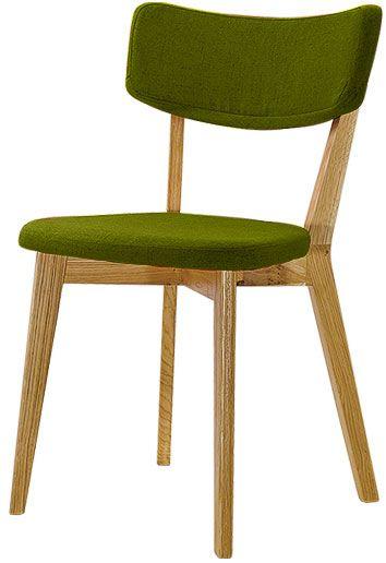 Stuhl Holz grün Stoff skandinavisch 2er Tilde 1