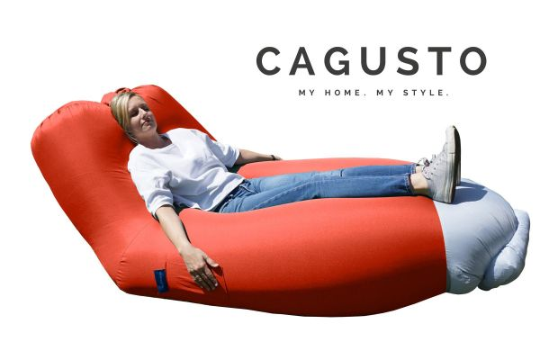 CAGUSTO® Air Lounge mit Rückenlehne in Rot