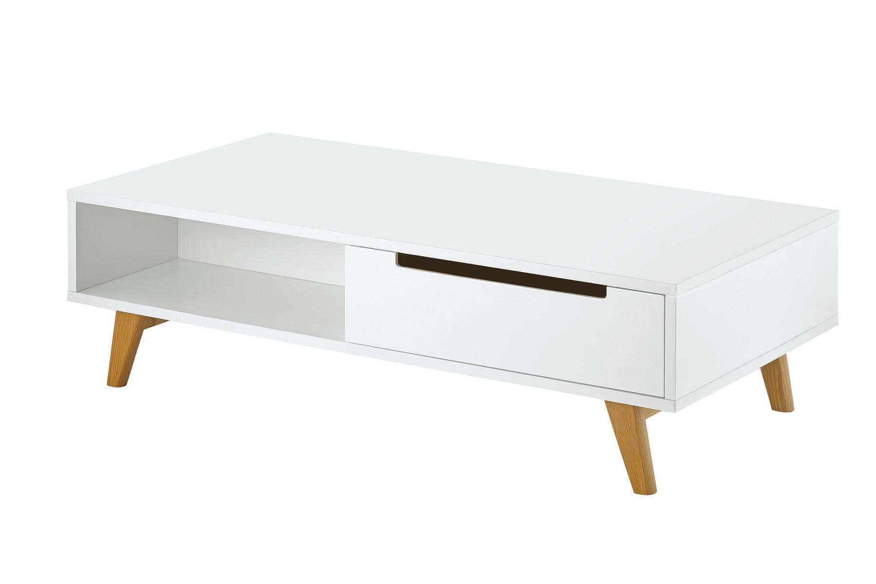 Couchtisch LINSELL, Weiß Matt Füße Aus Eichenholz, Designmöbel  Skandinavisches ,mid Century Design | CAGUSTO   MY HOME. MY STYLE.