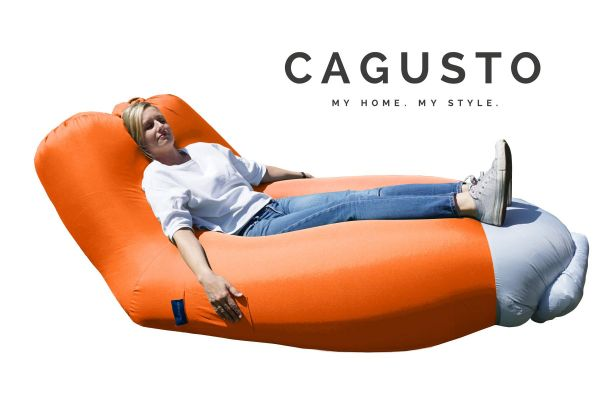CAGUSTO® Air Lounge mit Rückenlehne in Orange