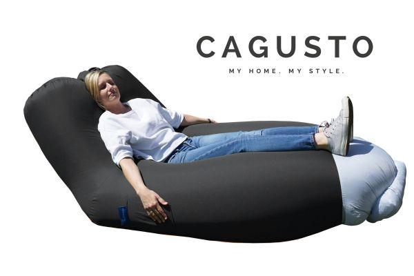 CAGUSTO® Air Lounge mit Rückenlehne in Schwarz