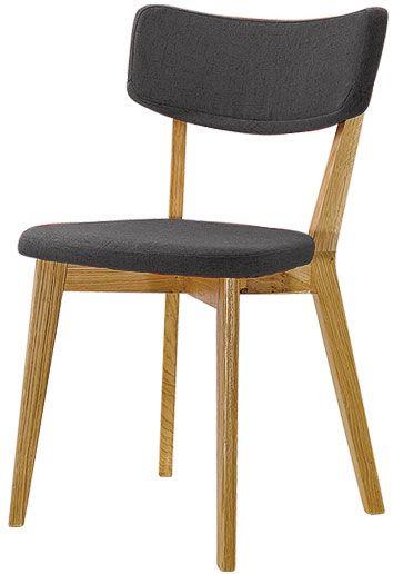 Stuhl Holz grau Stoff skandinavisch 2er Tilde 1