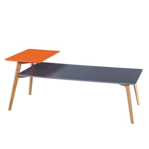 Couchtisch farbig Holz skandinavisch Tristan 1
