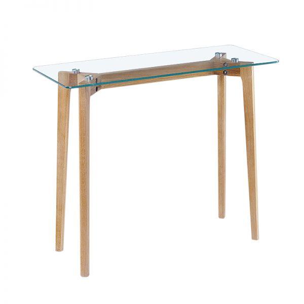 Konsole Holz Glas Eiche skandinavisch Mikkel 1