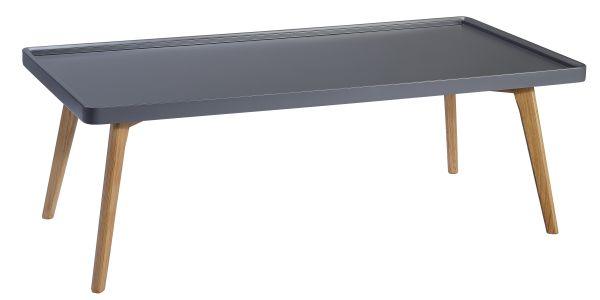Couchtisch Holz grau eckig skandinavisch Sander R 1