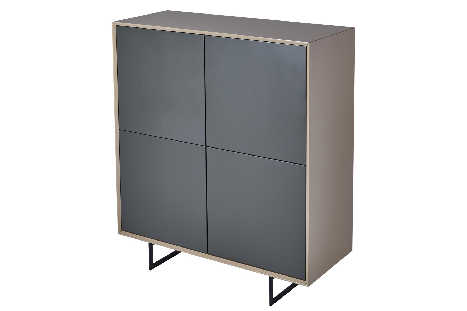 highboard titran beige grau anthrazit hochglanz sand matt. Black Bedroom Furniture Sets. Home Design Ideas