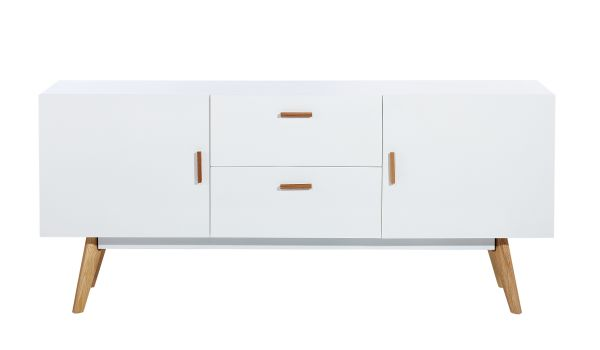 Sideboard weiß Holz skandinavisch Freja 1