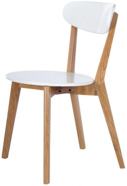 Esszimmer Stuhl 2er-Set weiß Massivholz Retro Design von CAGUSTO