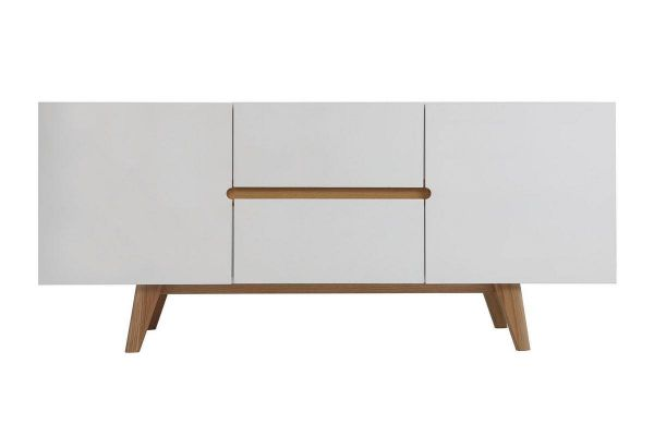 Sideboard weiß Holz skandinavisch Linsell 1