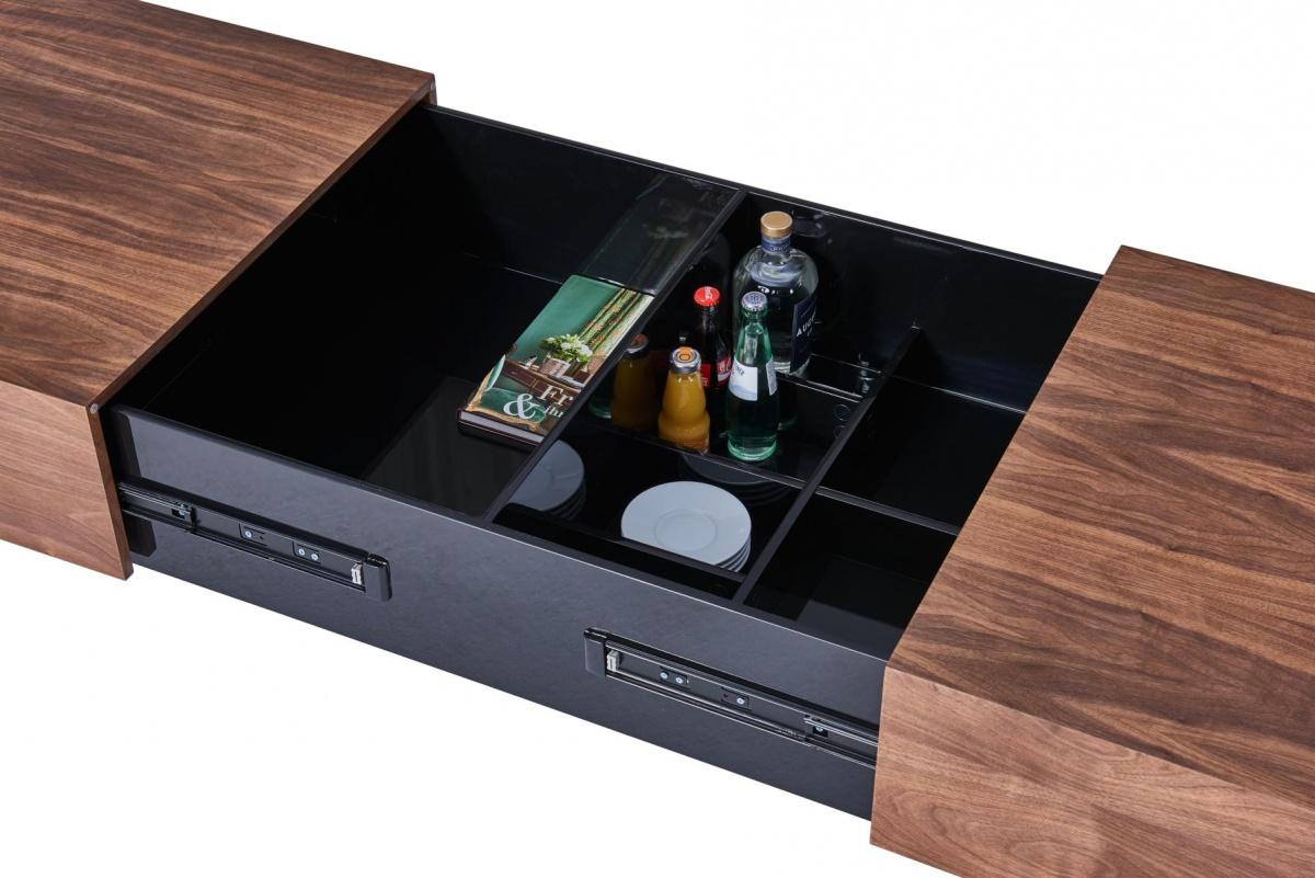 CAGUSTO® Couchtisch DENVER 120×70 Nussbaum schwarz
