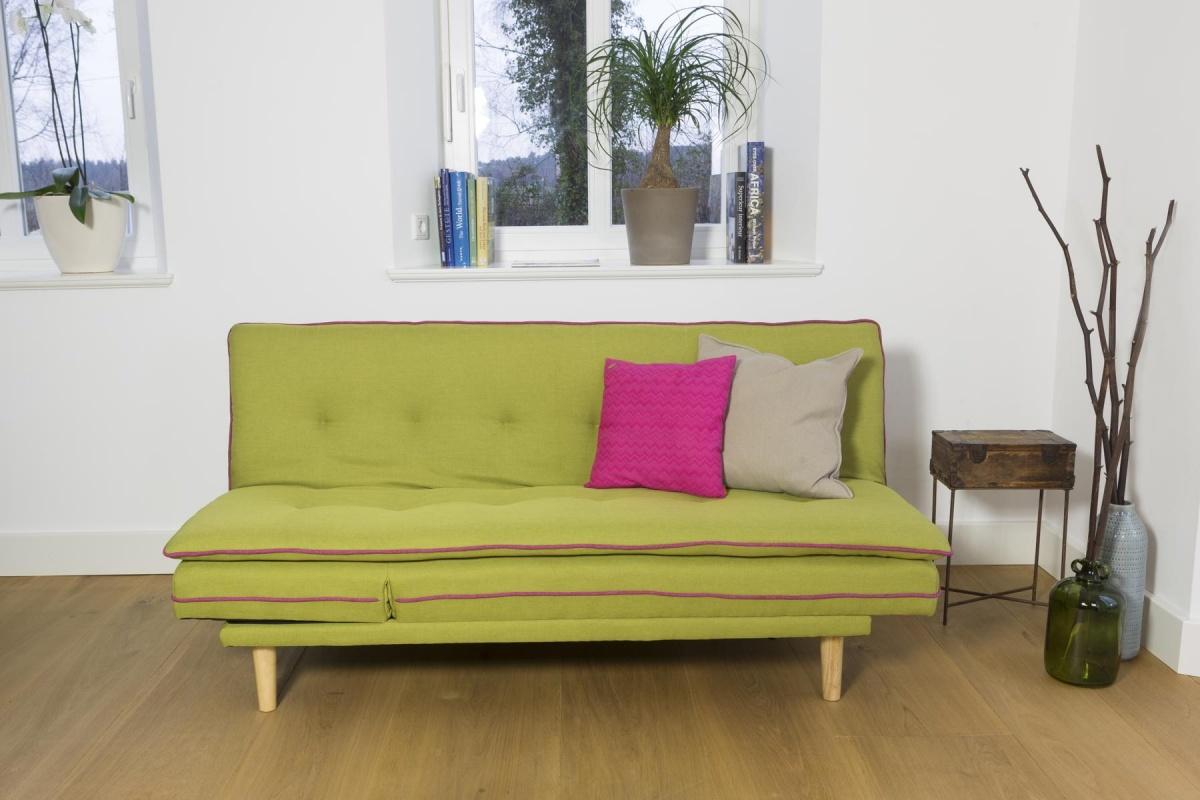 Cagusto design schlafsofa stoff gr n skandinavisch 2 for Sofa nordisch