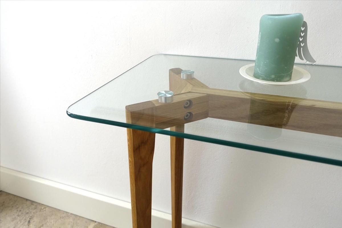 Cagusto konsole mikkel design glas eiche massiv nordisch for Sideboard nordisch