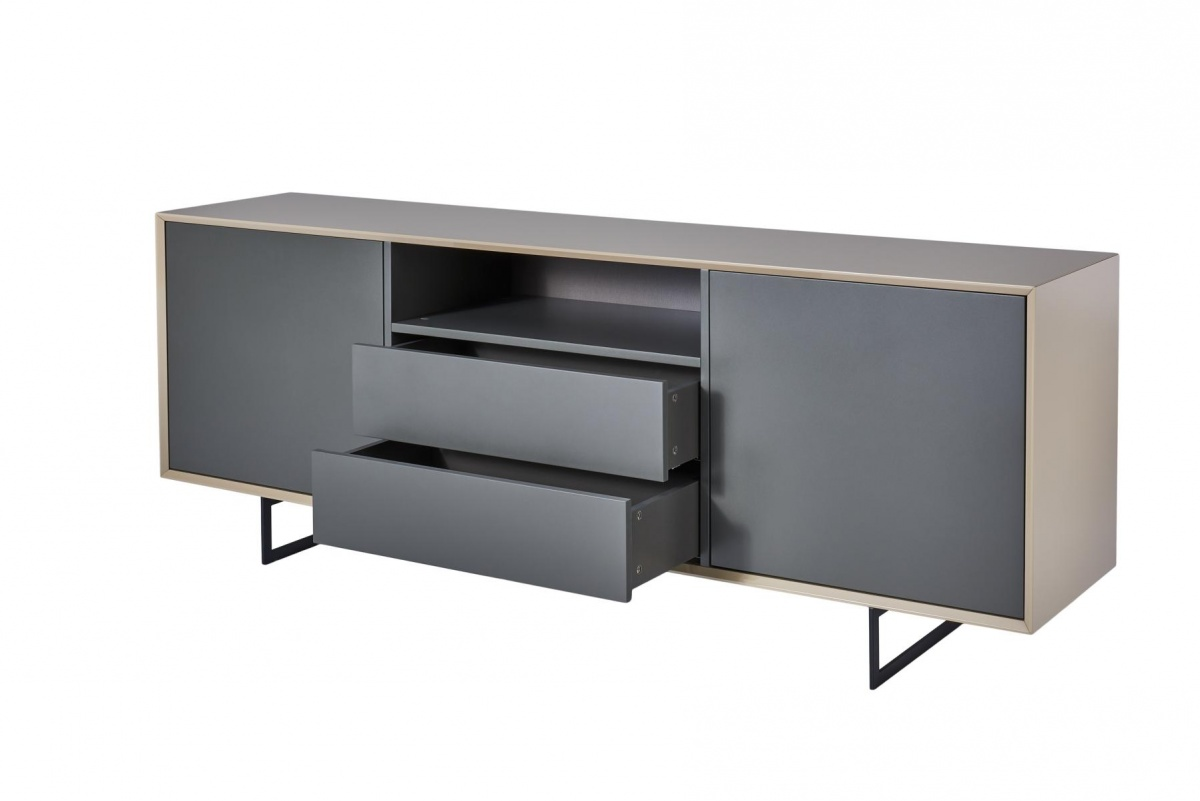 sideboard titran kommode highboard beige hochglanz grau. Black Bedroom Furniture Sets. Home Design Ideas