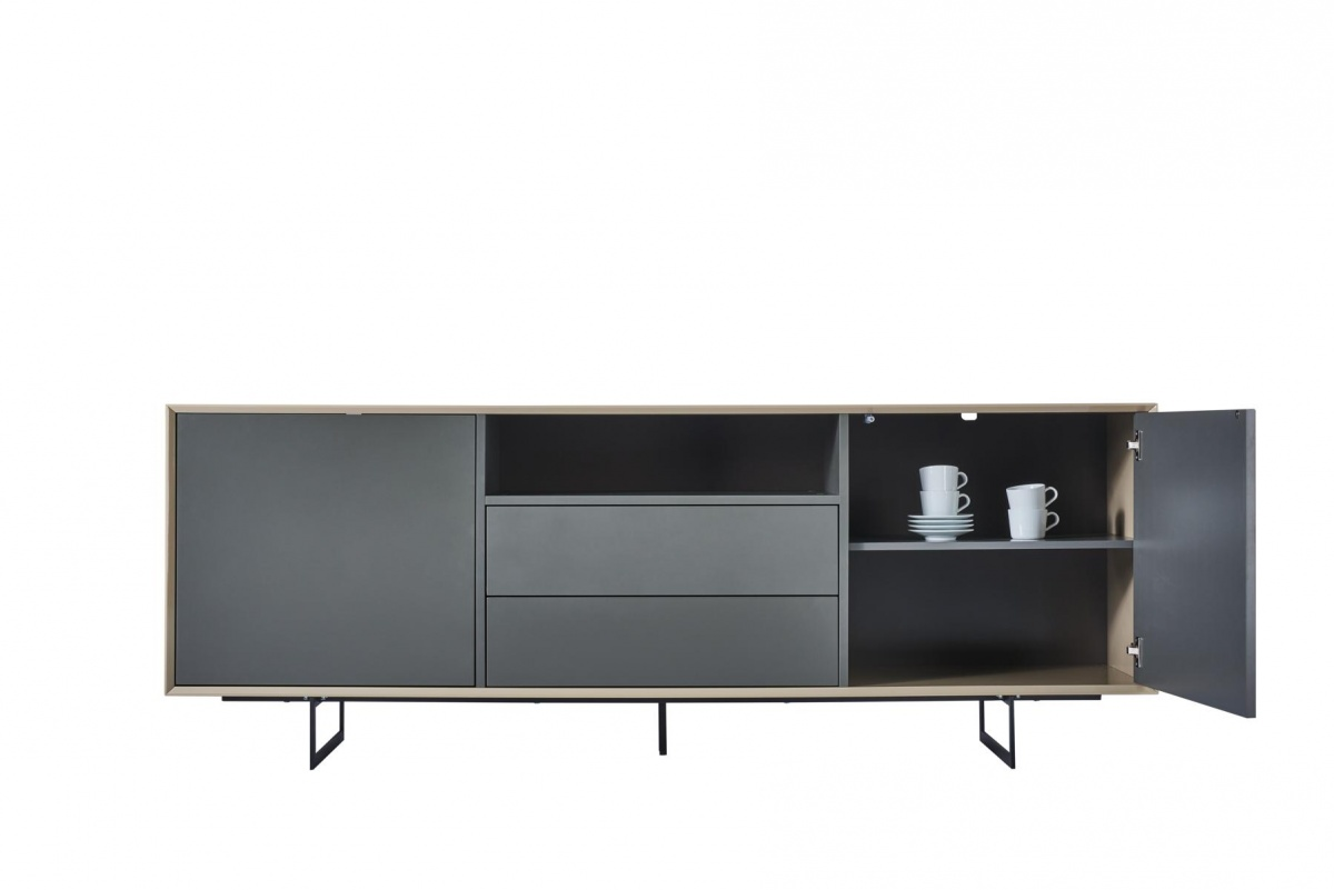 sideboard hochglanz creme stunning cagusto kommode. Black Bedroom Furniture Sets. Home Design Ideas