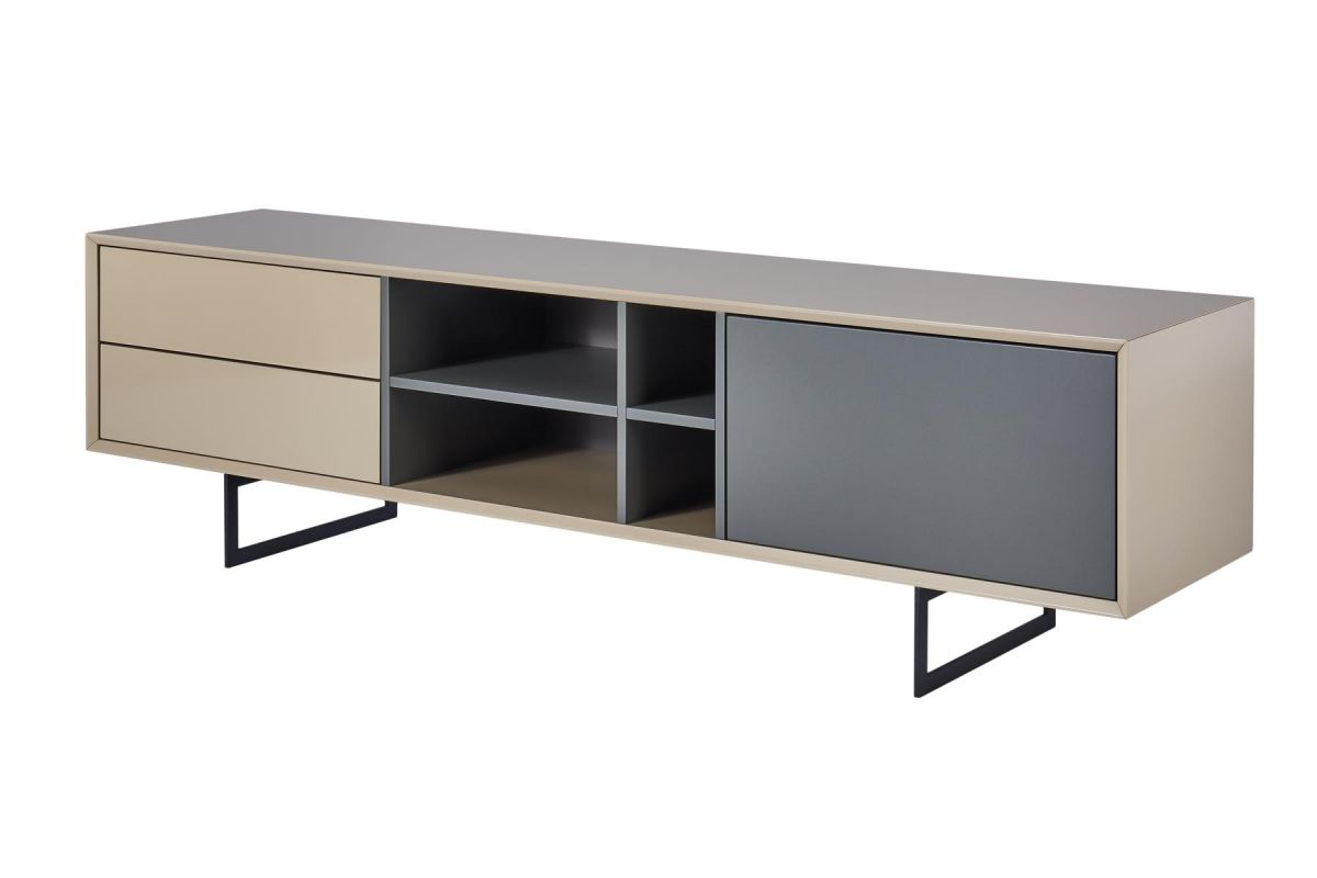 cagusto tv lowboard titran tv schrank beige hochglanz. Black Bedroom Furniture Sets. Home Design Ideas