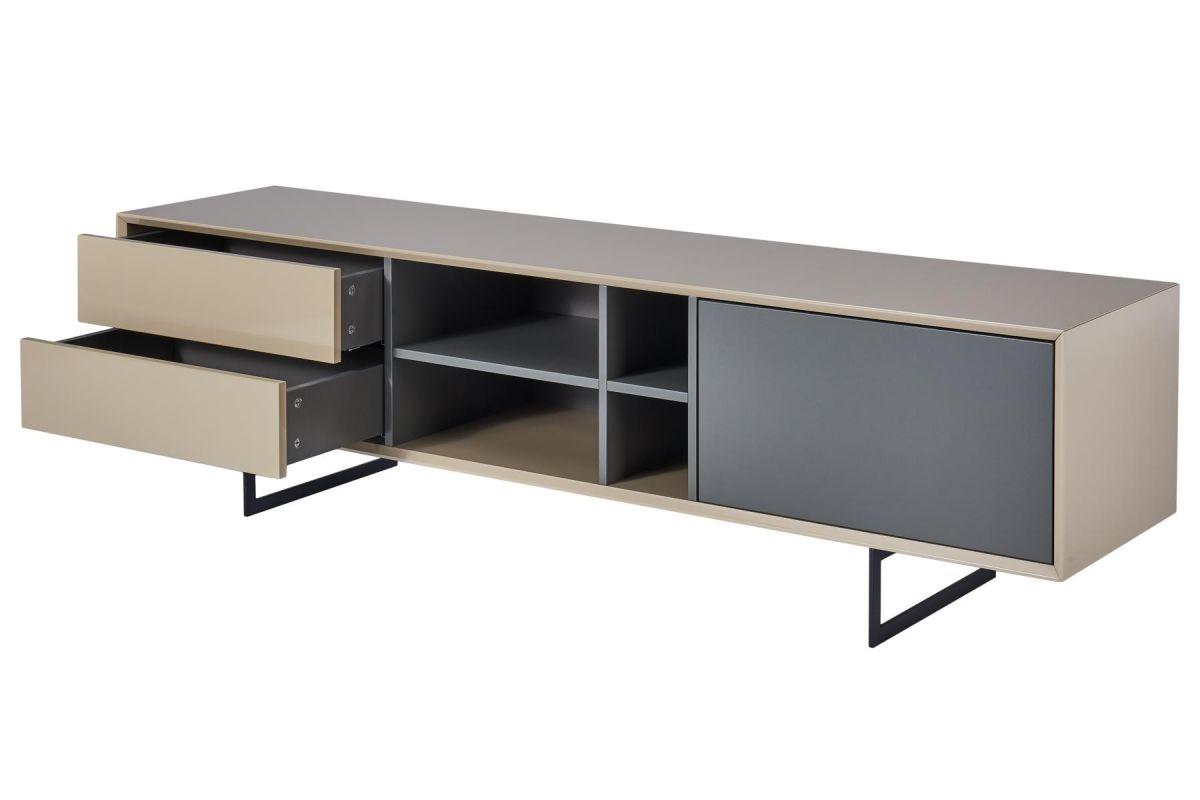 cagusto tv lowboard titran tv schrank beige hochglanz. Black Bedroom Furniture Sets. Home Design Ideas